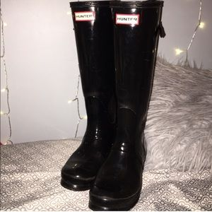 Hunter tall glossy boots